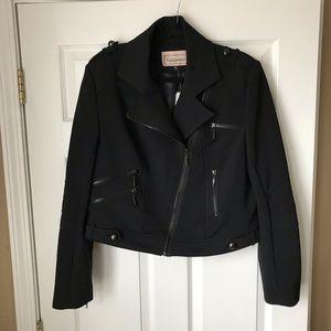 New! Tumbleweed black moto jacket w zippers
